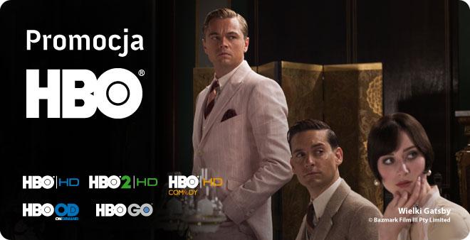 Promocja HBO Pakiet zawierający kanały: HBO, HBO2, HBO Comedy, HBO HD, HBO2 HD, HBO Comedy HD oraz usługi HBO On Demand i HBO GO